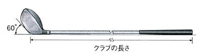 ゴルフクラブの長さ(60度法)